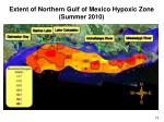 extent of northern gulf of mexico hypoxic zone summer 2010