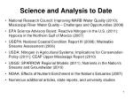 science and analysis to date