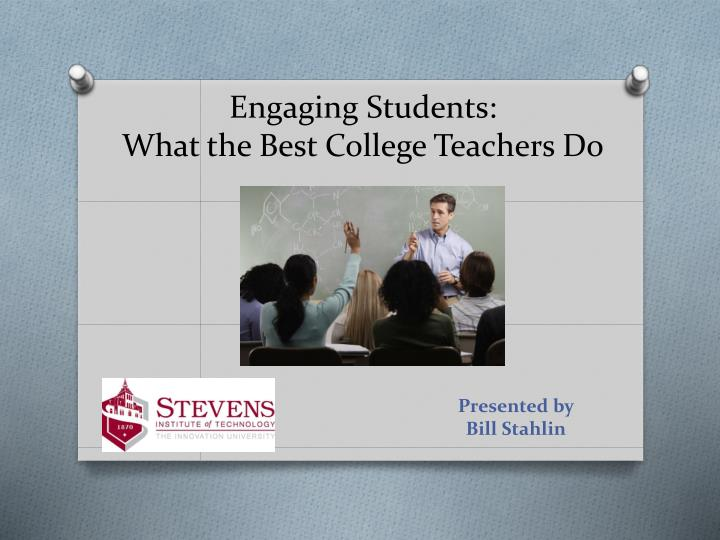 engaging students what the best college teachers do n.