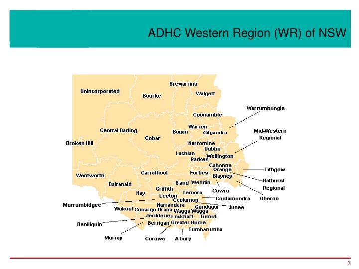 Adhc western region wr of nsw