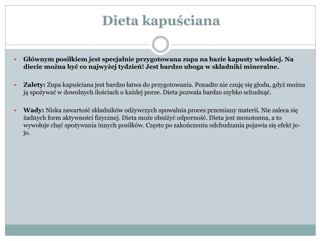 Ppt Popularne Diety Wady I Zalety Powerpoint Presentation Id