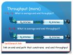 throughput more