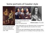 some portraits of cavalier style