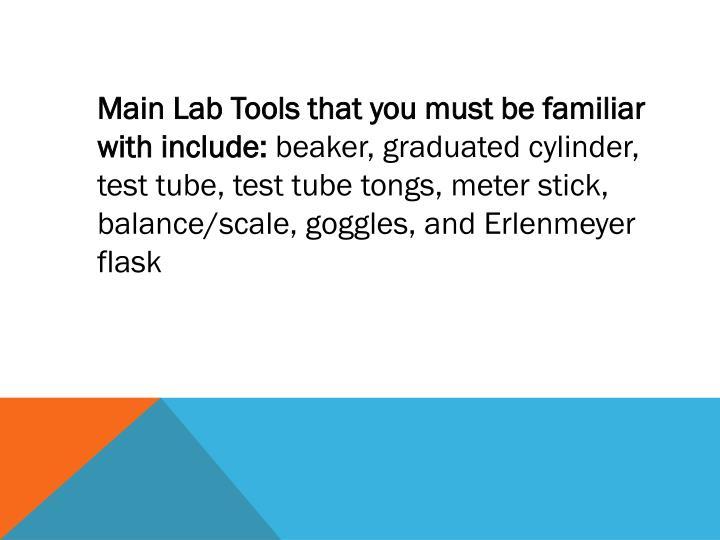 Main Lab Tools
