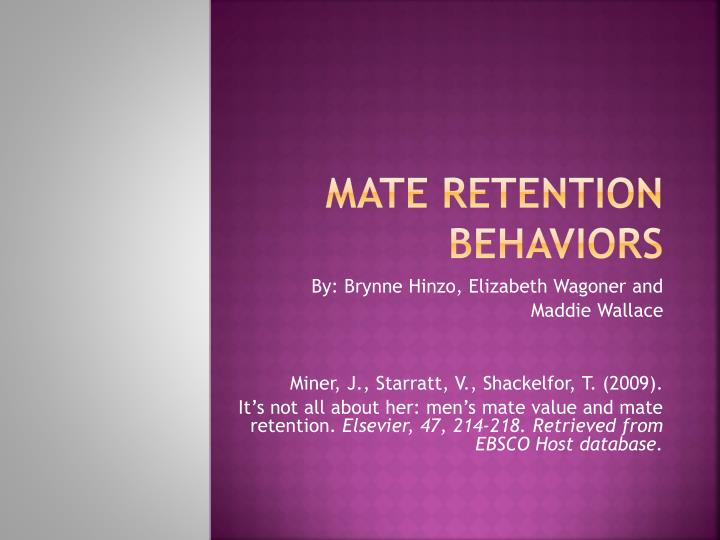 mate retention behaviors n.