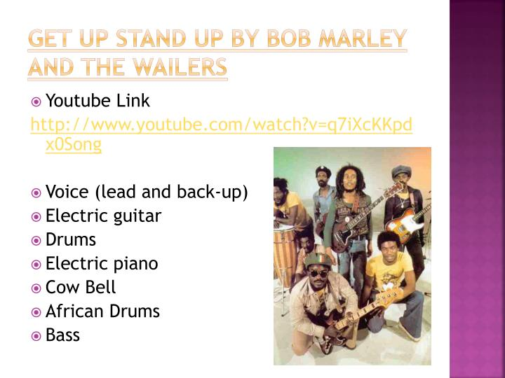 Get Up Stand Up by Bob Marley and the Wailers