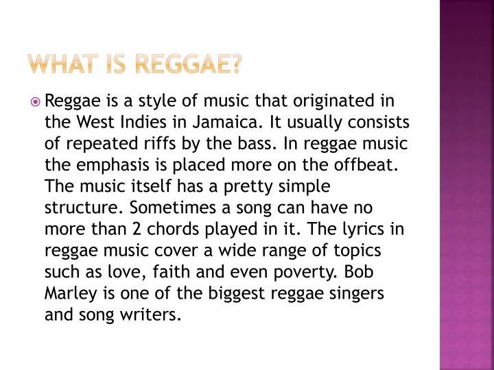 What is reggae
