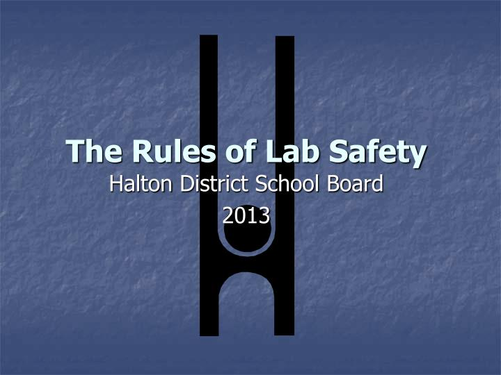 the rules of lab safety n.