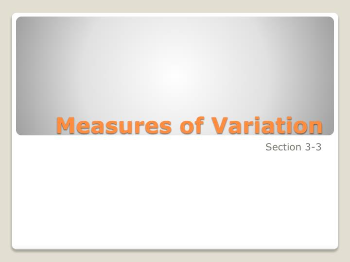 measures of variation n.