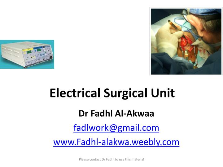 electrical surgical unit n.