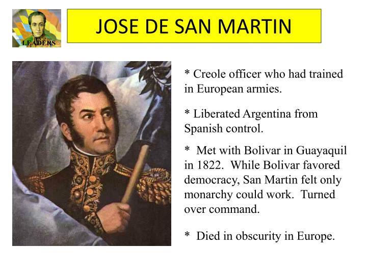 JOSE DE SAN MARTIN
