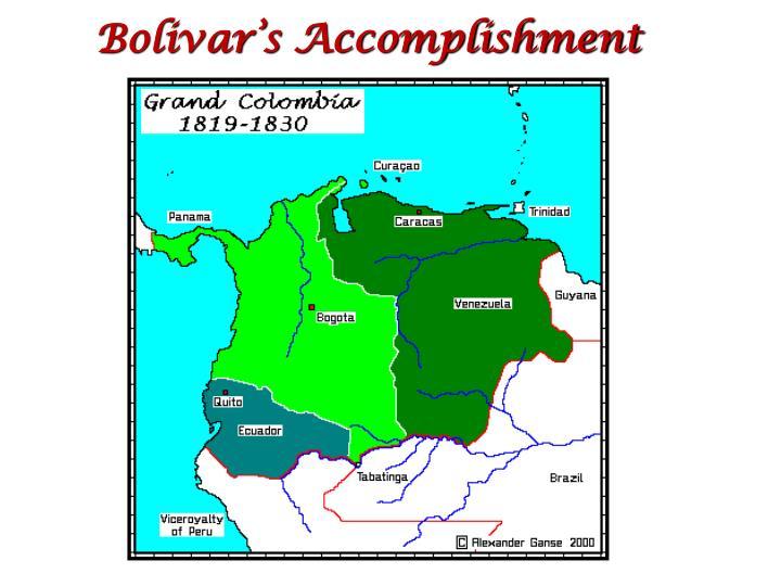 Bolivar's Accomplishment