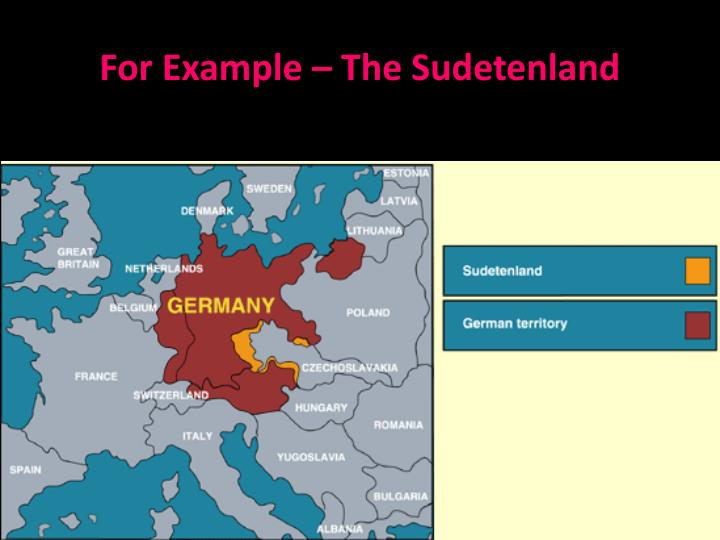 For Example – The Sudetenland