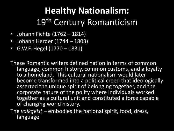 Healthy Nationalism: