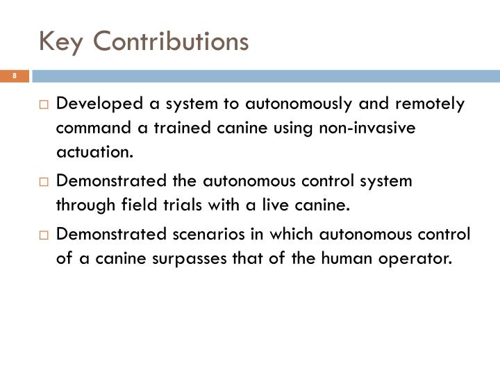 Key Contributions