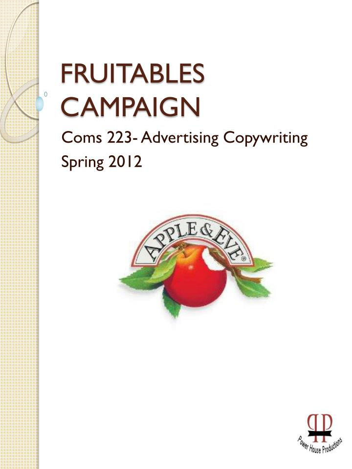 fruitables campaign n.