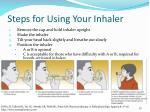 steps for using your inhaler