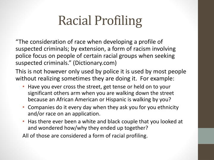 racial profiling abstract racial profiling considered many How can the answer be improved.