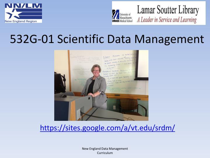 532G-01 Scientific Data Management