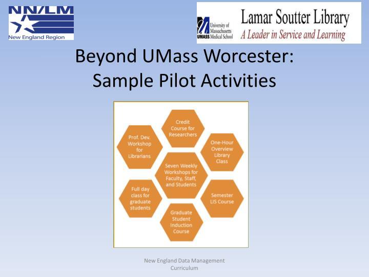 Beyond UMass Worcester:
