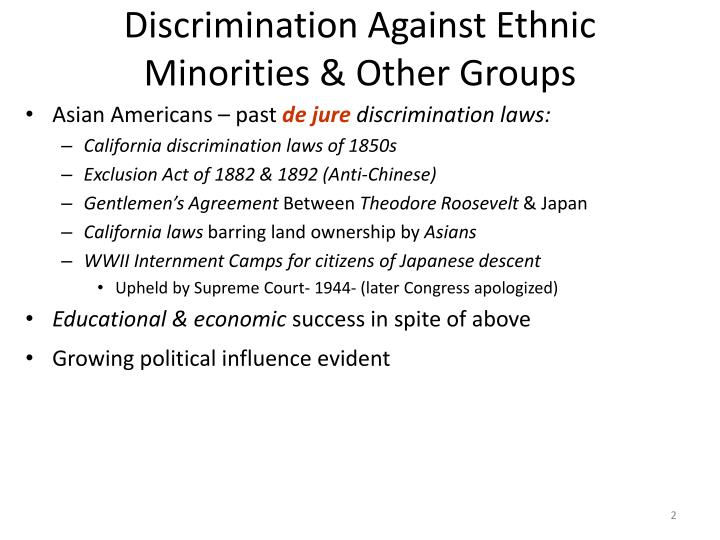 essays on discrimination against blacks Nearly everybody knows about black discrimination but very few people speak about the problem of white discrimination this type of racial discrimination exists in the areas where white population is minor naturally, such people have troubles at school and at their workplace.