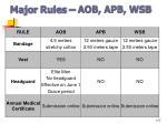 major rules aob apb wsb2