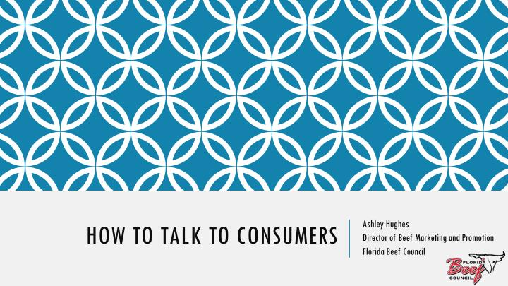 how to talk to consumers n.