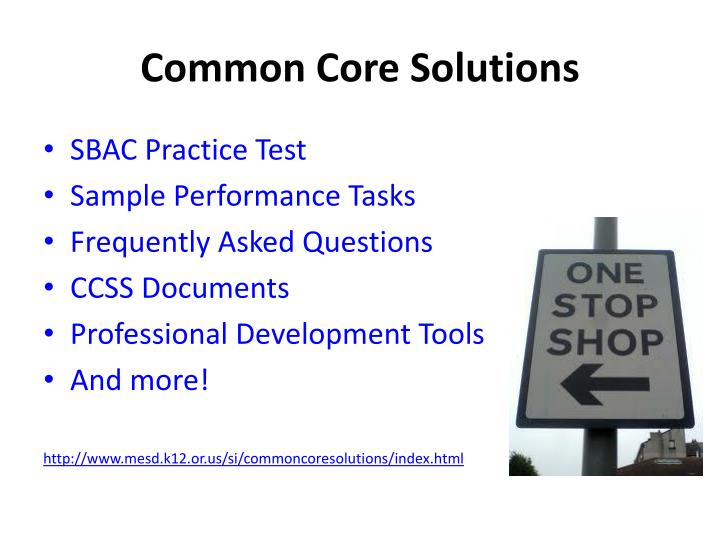 Common Core Solutions