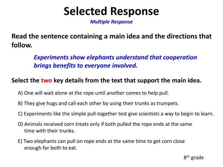 Selected Response