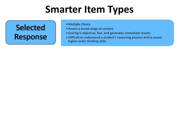 Smarter Item Types