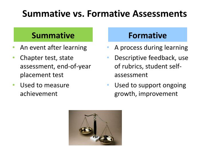 Summative vs. Formative Assessments