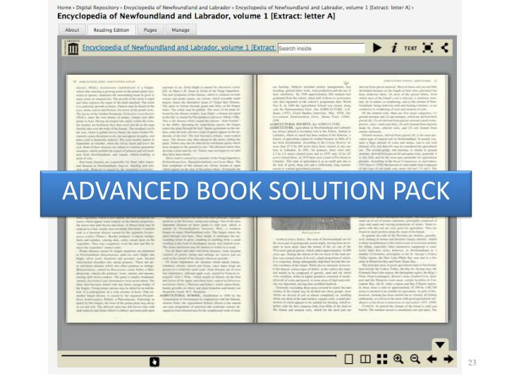ADVANCED BOOK SOLUTION PACK