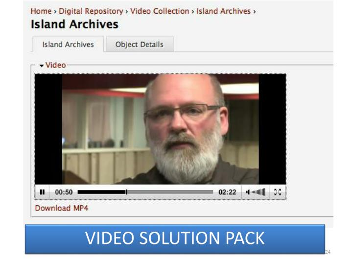 VIDEO SOLUTION PACK