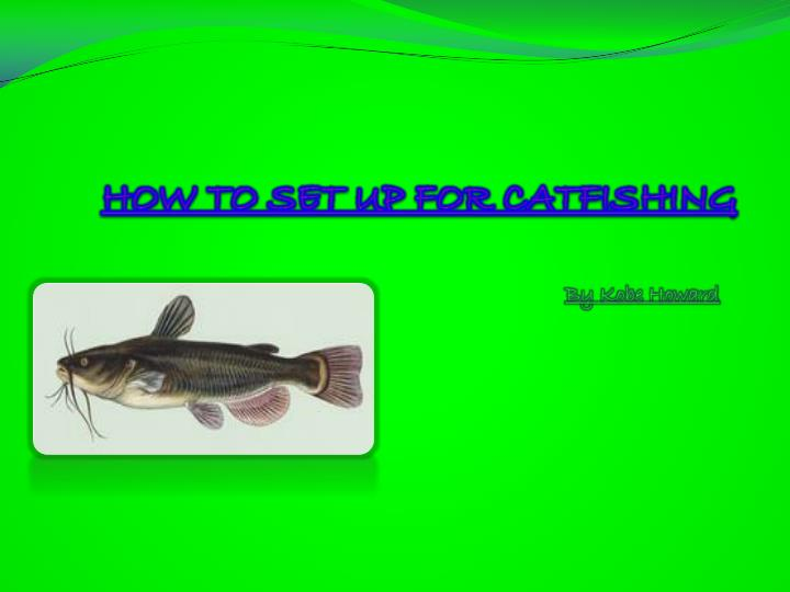 how to set up for catfishing n.