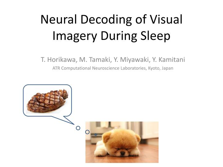 Neural Decoding of Visual Imagery During Sleep