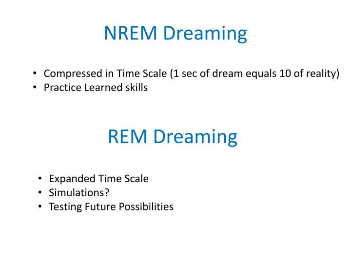 NREM Dreaming