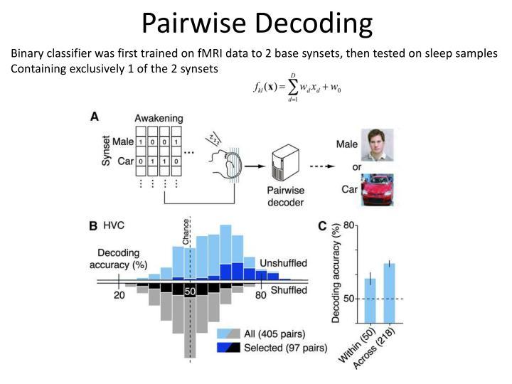 Pairwise Decoding