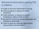 behavioral observations during psg in children