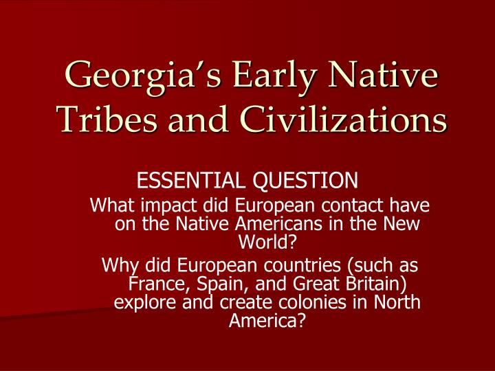 what impact did the encroachment of europeans have upon the new world As a result of columbus's voyages to the new world how did the europeans have an impact on the what was the impact of europeans exploration on the natives of.