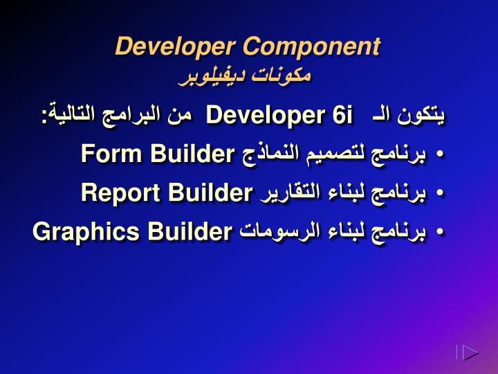 Developer Component
