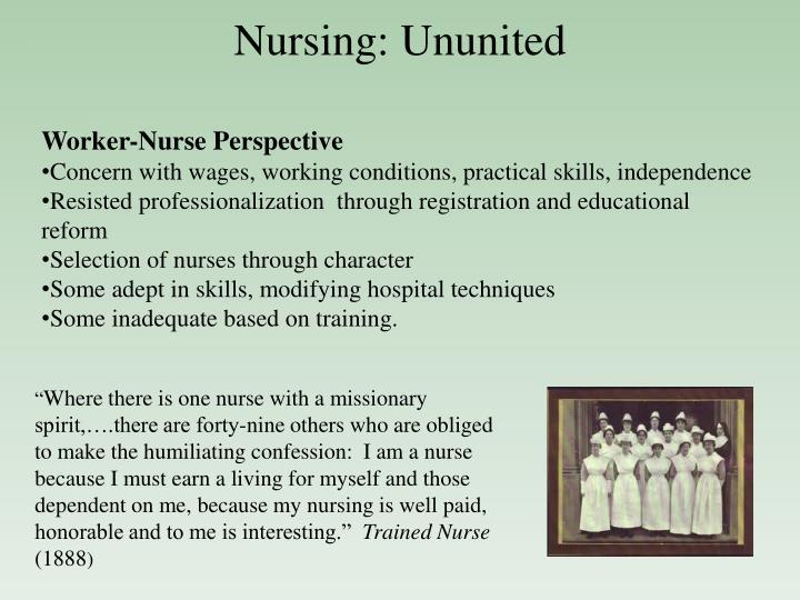 Nursing: Ununited