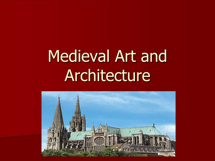 medieval art and architecture n.