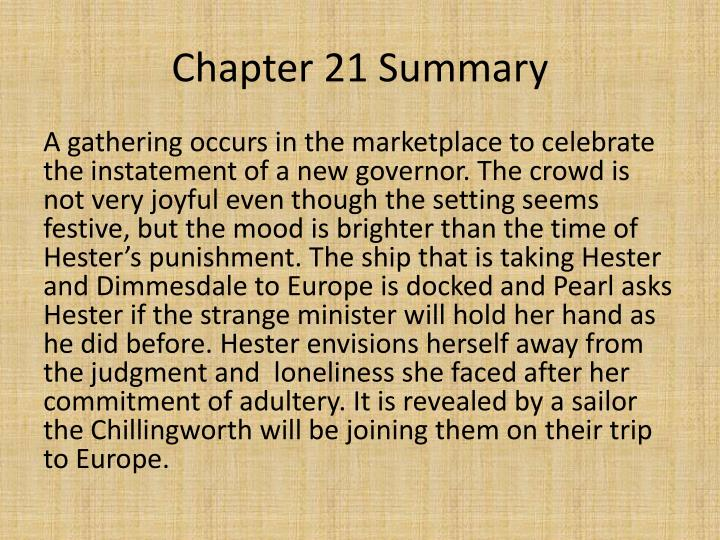 PPT   Chapters 21 and 22 The Scarlet Letter PowerPoint
