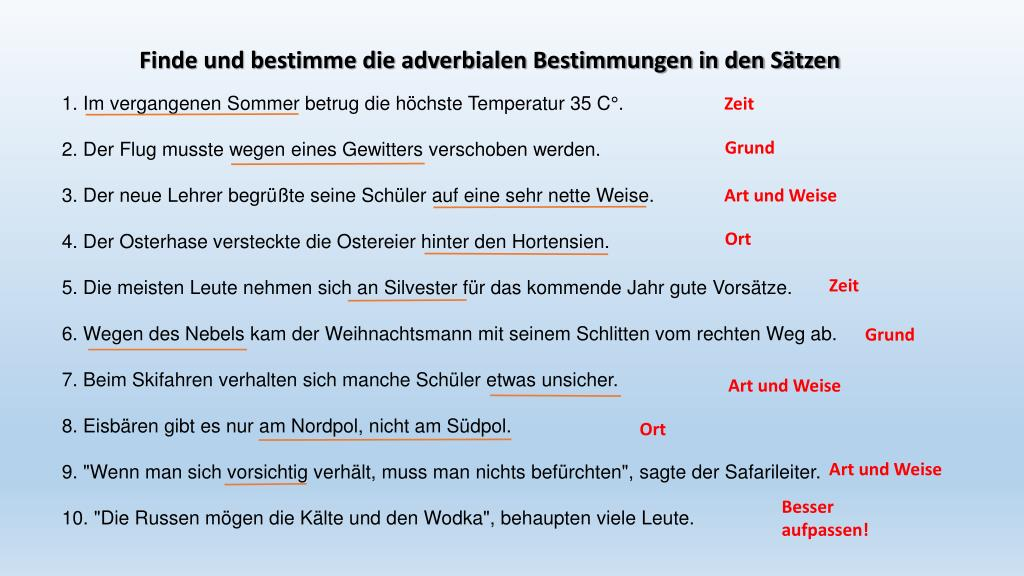 Adverbiale Bestimmungen Youtube 10