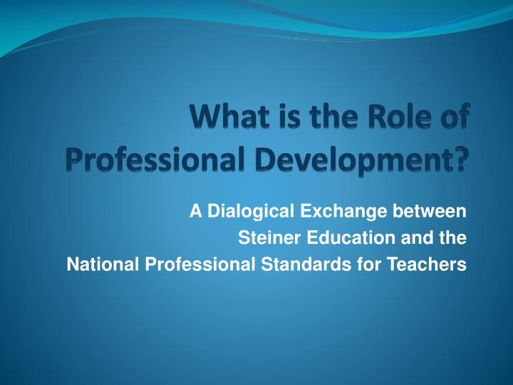 what is the role of professional development n.