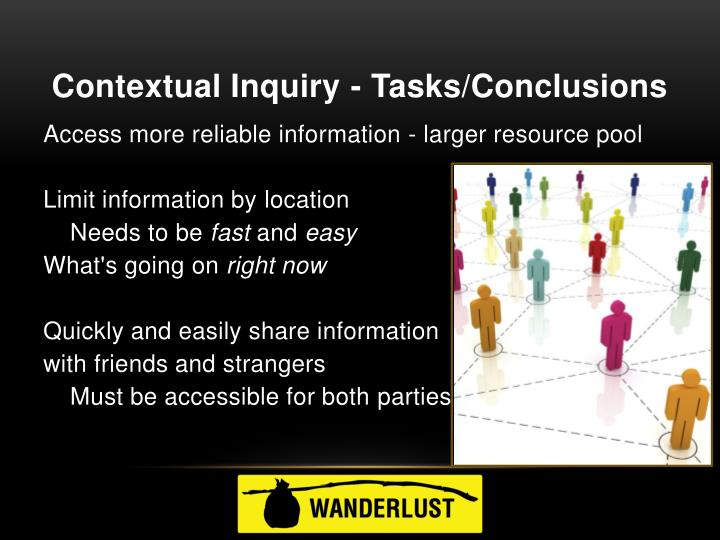 Contextual Inquiry - Tasks/Conclusions