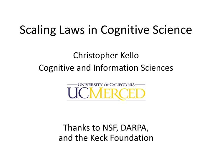 scaling laws in cognitive science n.