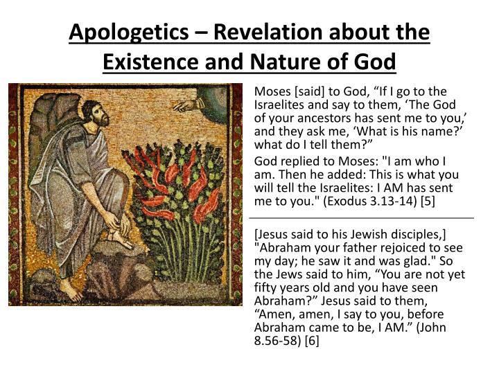 Apologetics – Revelation about the Existence and Nature of God