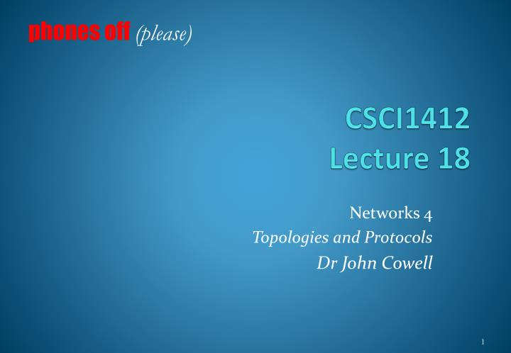 csci1412 lecture 18 n.