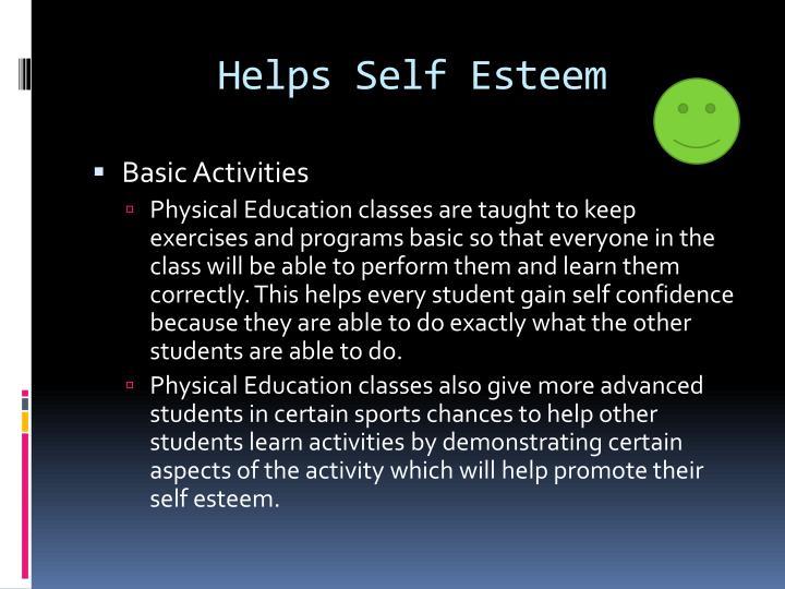 Helps Self Esteem